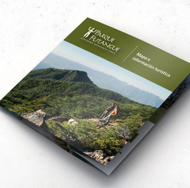 Folleto y mapa Parque Futangue